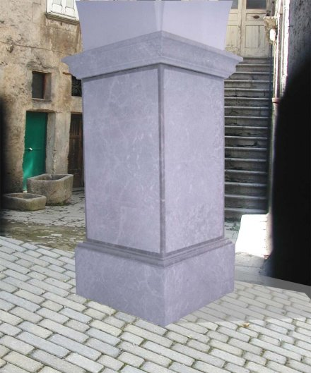 Rivestimento pilastro arte pietra snc - Rivestimento pilastri esterni ...