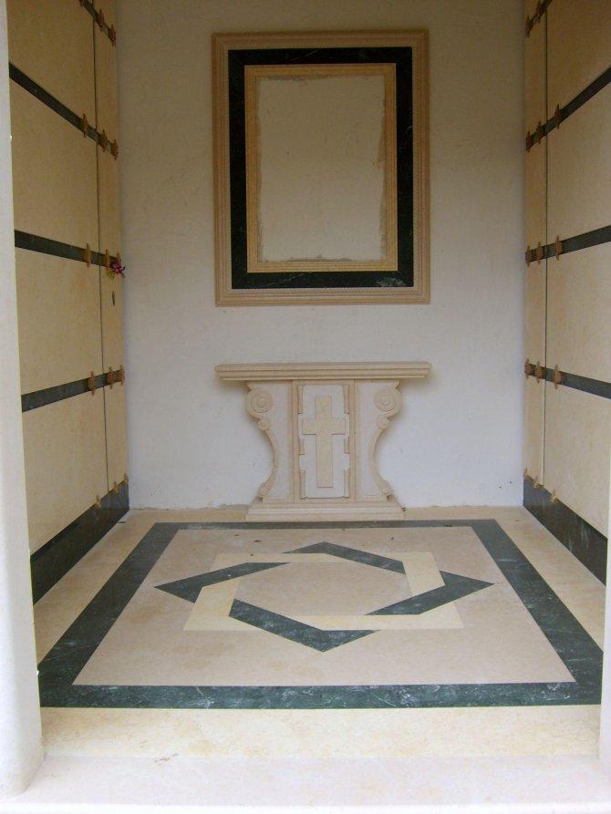 Rivestimento interno cappella arte pietra snc - Rivestimento interno in pietra ...